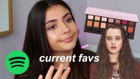 CURRENT FAVS: makeup, music, tv shows etc..
