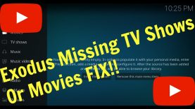 Exodus Missing TV Shows or Movies FIX!!