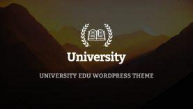 University – WordPress Theme – One click install sample data and import slider demo