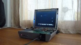 Nintendo NES with built-in screen – laptop style