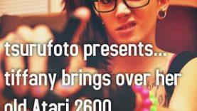 tsurufoto presents… tiffany brings over her old Atari 2600 (NSFW)