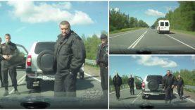 Polícia de choque russa lida mal com ultrapassagem de condutor e parte logo para o confronto… WTF!