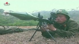 State TV shows North Korean soldiers shooting at a paper …