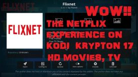THE NETFLIX EXPERIENCE ON KODI KRYPTON 17 = EXODUS = FLIXNET = GREAT SETUP ( HD MOVIES, TV SHOWS)