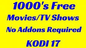 Watch 1000's MoviesTV Shows NO Add-ons Required Kodi 17