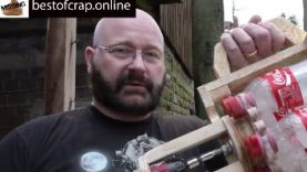 Amazing a Full Auto Coke Bottle Gatling Gun… WTF