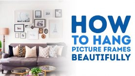 How to Hang Picture Frames Beautifully l 5-MINUTE CRAFTS
