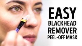Easy DIY blackhead remover peel off mask l 5-MINUTE CRAFTS