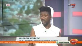 Tic Tac walks off set as GHOne TV shows Shatta Wale's video during live interview
